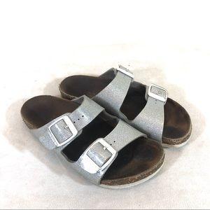 Birkenstock Arizona Two Strap Sandals Silver